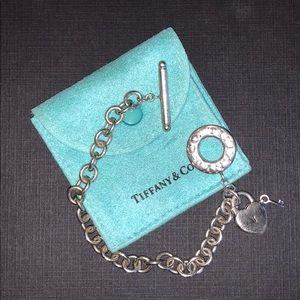 Tiffany Toggle Bracelet with Heart Lock Charm